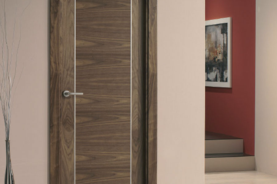puerta moderna de madera para interior de piso