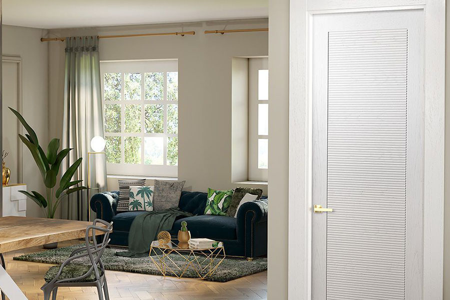 puerta con textura moderna de color blanco