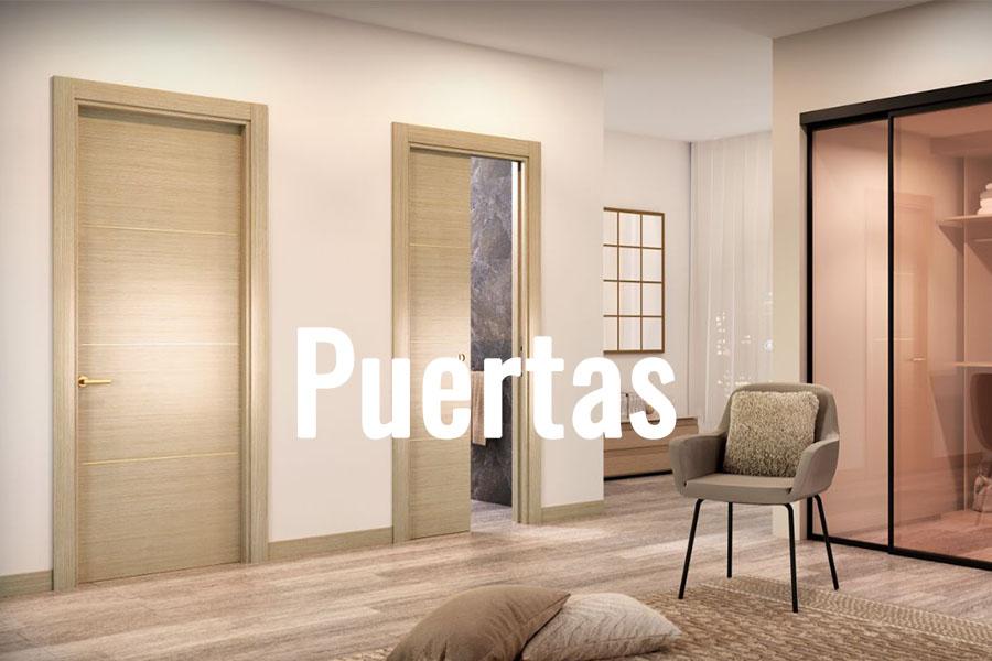 Puertasd de madera de interior en salón